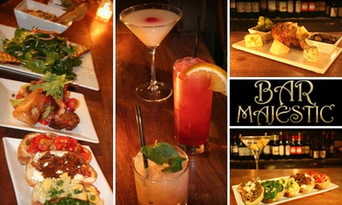Bar Majestic - Historic Downtown: $15 for $30 Worth of Small Plates and Drinks at Bar Majestic