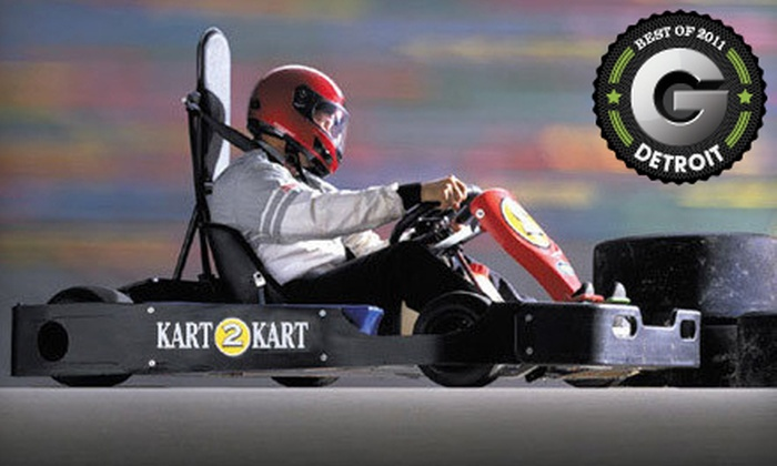 Kart 2 Kart - Sterling Heights: $49 for Go-Kart Outing with Six Races and Four Fountain Drinks at Kart 2 Kart in Sterling Heights (Up to $108 Value)