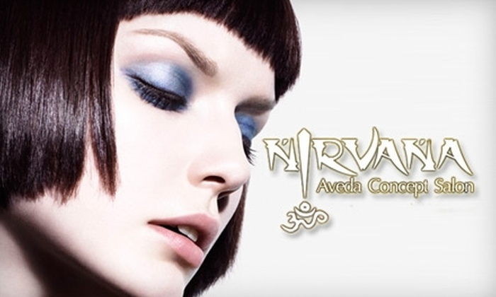 Nirvana Aveda Concept Salon - Los Gatos: $30 for $65 Worth of Salon Services and a Hair Spa Treatment at Nirvana Aveda Concept Salon (Up to $80 Value)