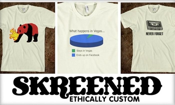 Skreened - Las Vegas: $15 for $30 Worth of Online, Custom-Designed Clothing at Skreened