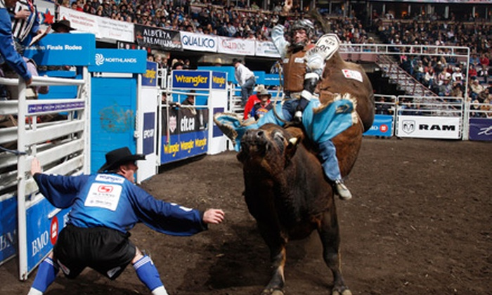 Canadian Finals Rodeo - Edmonton: Two Tickets to the Canadian Finals Rodeo at Rexall Place on November 12 or 13 at 1 p.m. Four Options Available.