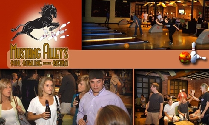 Mustang Alley's Bowling and Bistro - Little Italy: $15 for 1 Hour of Bowling and Shoe Rental at Mustang Alley's Bar Bowling and Bistro ($31.50 Value)
