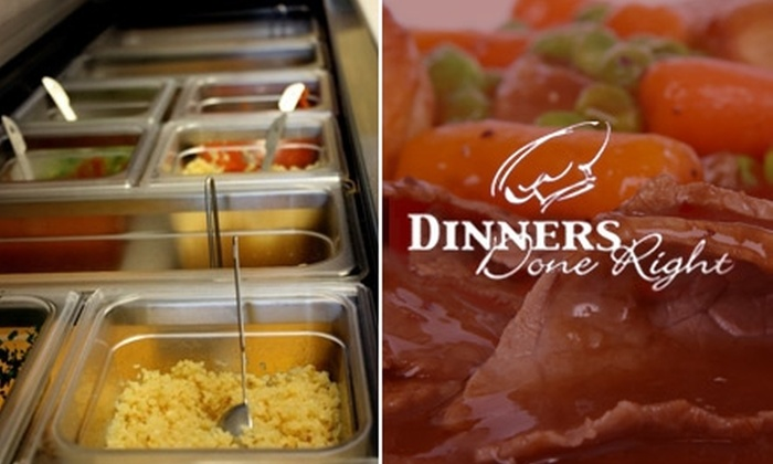 Dinners Done Right - Multiple Locations: $49 for Six Ready-to-Cook Family Meals from Dinners Done Right
