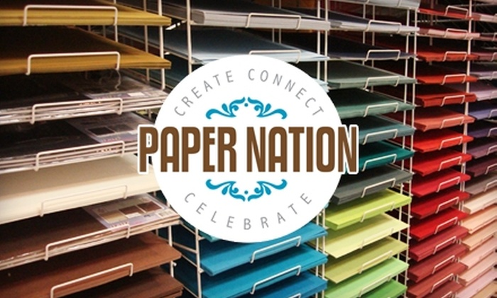 Paper Nation - Highway 11: $10 for $25 Worth of Cards, Paper Crafts & More at Paper Nation