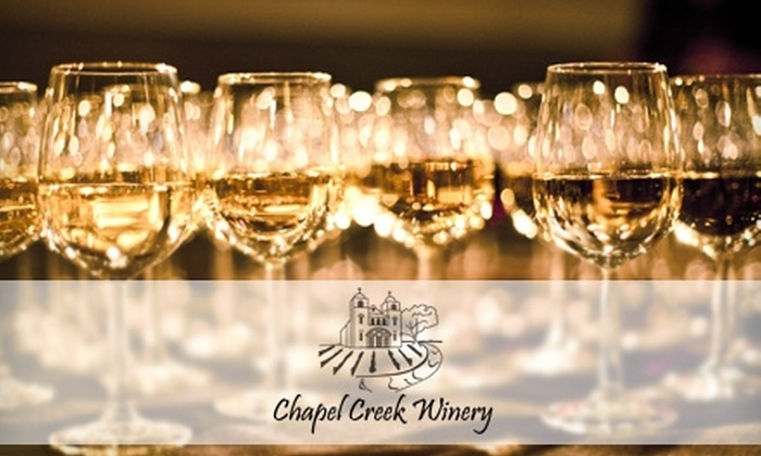 Chapel Creek Winery - El Reno: $10 for a Wine Tasting for Two, Winery Tour, Bottle of Wine, and Wine Glass from Chapel Creek Winery in El Reno (Up to $26 Value)