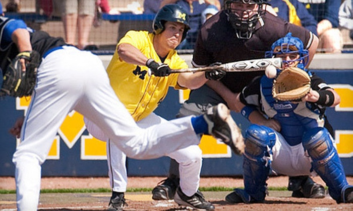 University of Michigan Men's Baseball - Multiple Locations: University of Michigan Baseball Game for Two with Hot Dogs and Drinks on May 8 or 17 (Up to Half Off)
