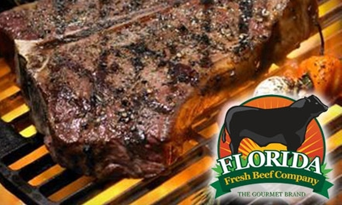 Florida Fresh Beef Company: $62 for Fresh-Frozen Mail-Order Gourmet Beef Package from Florida Fresh Beef Company ($125 Value)