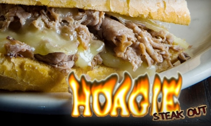 Hoagie Steak Out - Downtown San Jose: $7 for $15 Worth of Steak Sandwiches, Beverages, and More at Hoagie Steak Out