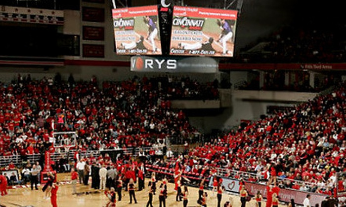 University of Cincinnati Bearcats - CUF: $25 for a University of Cincinnati Bearcats Basketball Package ($91 Value). Four Games Available.