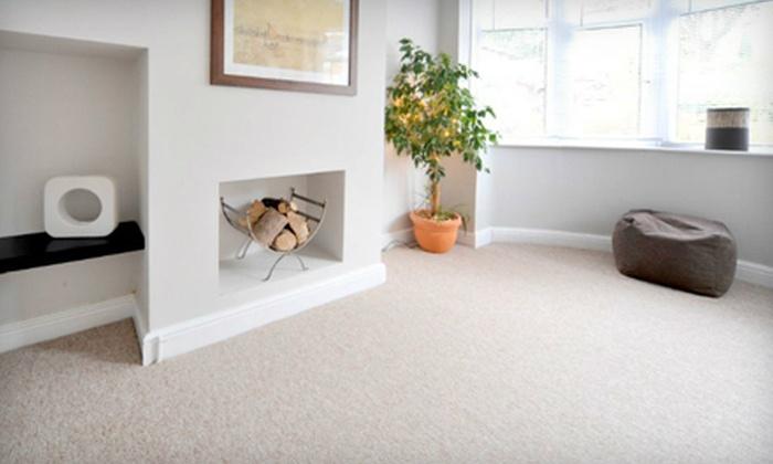 JT's Carpet Cleaning - I-435 West Kc-ks: Carpet Cleaning in Three or Five Rooms from JT's Carpet Cleaning (Up to 67% Off)