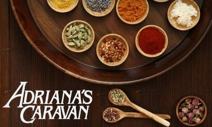 Adriana's Caravan - SoHo: $10 for $20 Worth of Unique Spices, Herbs, and Condiments at Adriana's Caravan