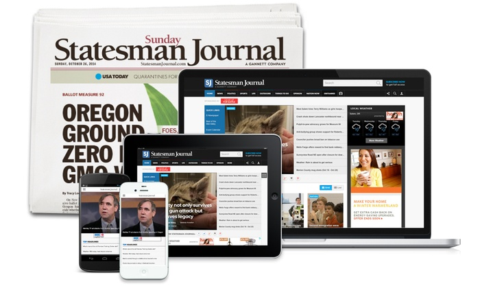 Statesman Journal: 26-Week or 52-Week Full Access Subscription with Sunday Delivery of the Statesman Journal (Up to 81% Off)