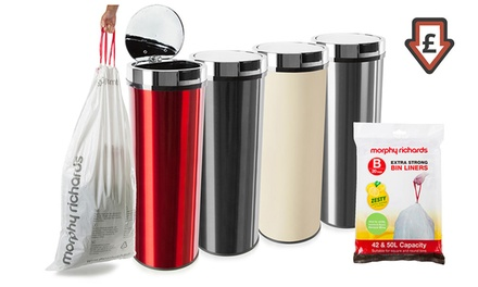 50Litre Sensor Bin with a 10Pack of Scented Bin Liners With Free Delivery