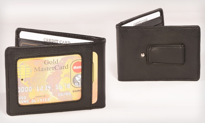 Men's Leather Wallets: $8.99 for a Men's Leather Money-Clip or Travelers Wallet (Up to $149.99 List Price). 4 Styles Available. Free Returns.