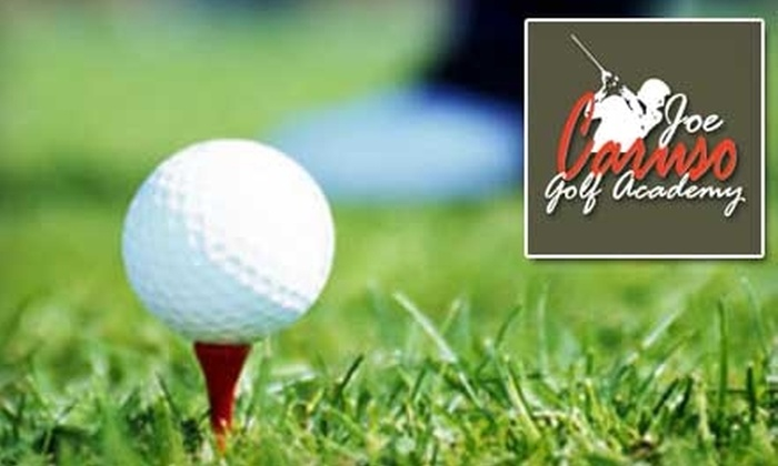 Joe Caruso Golf Academy - Far North Central: $75 for Two Half-Hour Golf Lessons and 30 Days' Unlimited Practice at Joe Caruso Golf Academy ($150 Value)