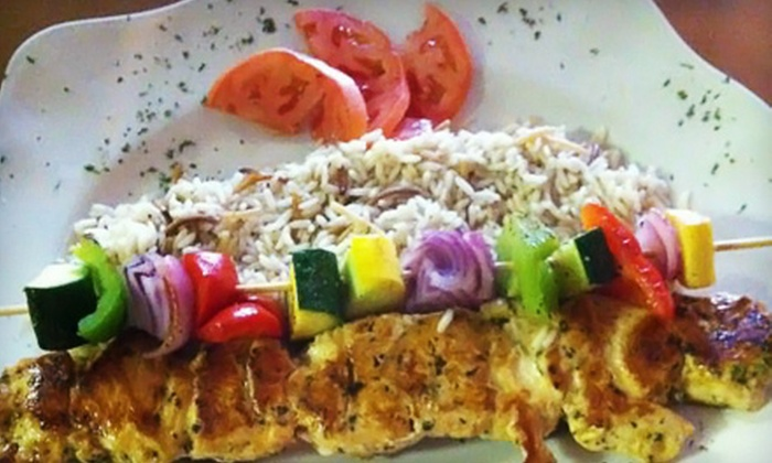 Café Manzi's - Shrewsbury Street: $10 for $20 Worth of Middle Eastern Dinner Fare at Café Manzi's