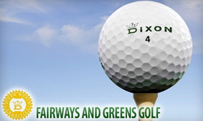 Fairways and Greens Golf - Central Scottsdale: $40 for 12 Dixon Earth Golf Balls, 30 Certificates for Additional Sleeves of Balls or Merchandise, a Hybrid Club, and $10 PGA Gift Card ($80 Value) from Fairways and Greens Golf