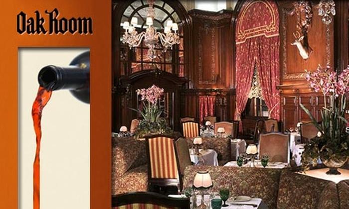 Oak Room - Back Bay: $35 for $75 Worth of Steakhouse Cuisine at the Oak Room