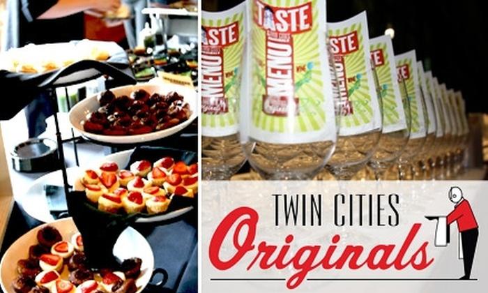 Taste of Twin Cities Originals  - Summer-Glenwood: $25 for Admission to Taste of the Twin Cities Originals Strolling Food & Wine Event ($45 Value)