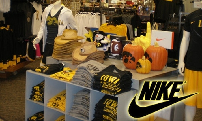 Iowa Book - Longfellow: $10 for $20 Worth of Nike-Brand University of Iowa Apparel at Iowa Book