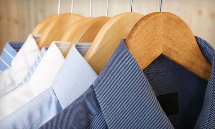 Blu White Cleaners - Multiple Locations: $15 for $30 Worth of Eco-Friendly Clothes-Cleaning Services at Blu White Cleaners. Seven Locations Available.
