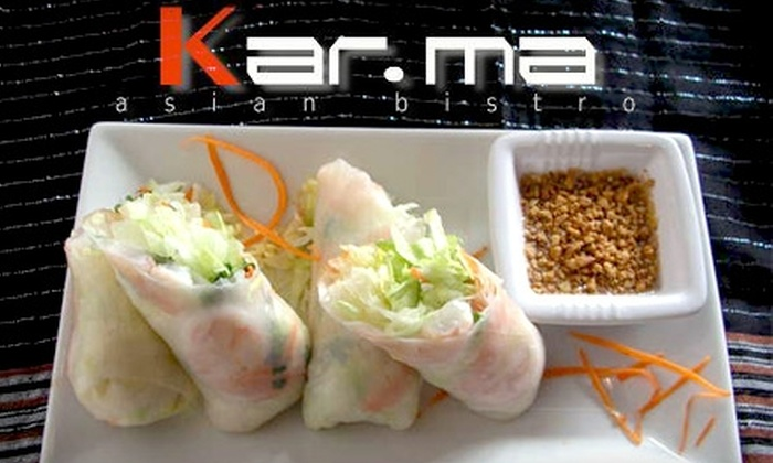 Kar-ma Asian Bistro - Sherwood: $15 for $30 Worth of Fresh Asian Cuisine and Drinks at Kar-ma Asian Bistro