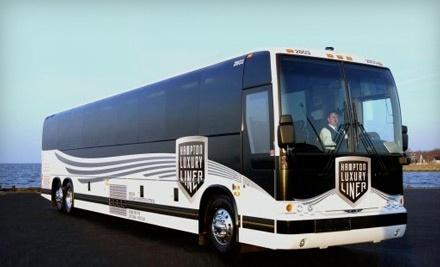 Hampton Luxury Liner: Round-Trip Travel to Atlantic City Plus a $10 Dining Voucher at Resorts Casino and $5 in Slot Cash - Hampton Luxury Liner in New York