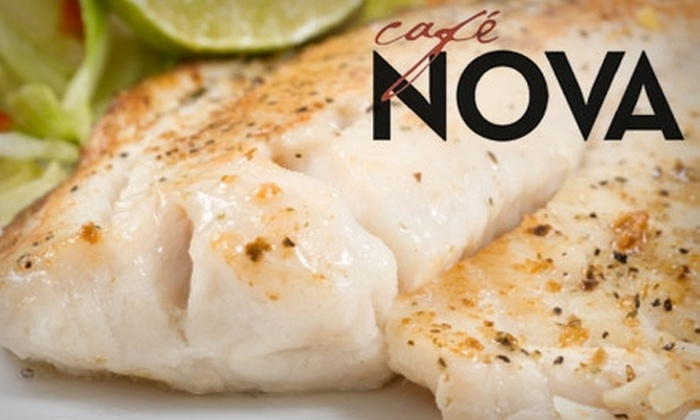 Café Nova - Crown Hts. - Edgemere Hts.: $15 for $30 Worth of Contemporary American Cuisine and Drinks at Café Nova