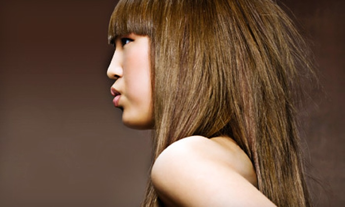 Deep-Conditioning or Partial-Highlights Package at Cut and Color (Up to 51% Off). Three Locations Available.