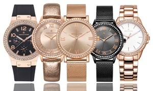 (Exclusive)  Montre cristaux Swarovski® -85% réduction