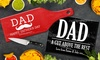 Fabness: Personalized Glass Cheese or Cutting Board for Dad or Grandpa (Up to 70% Off)