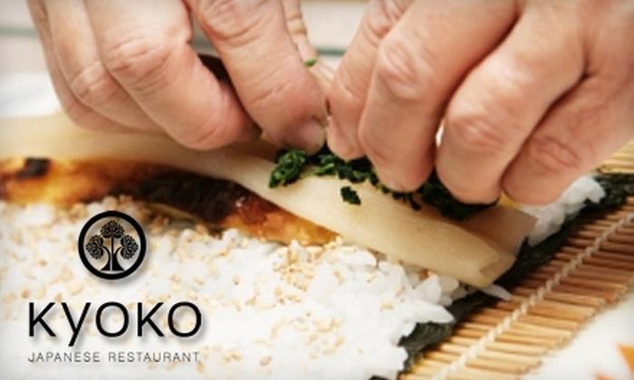 Kyoko Japanese Restaurant - Fayetteville: $45 for a Sushi-Making Class at Kyoko Japanese Restaurant ($89 Value)