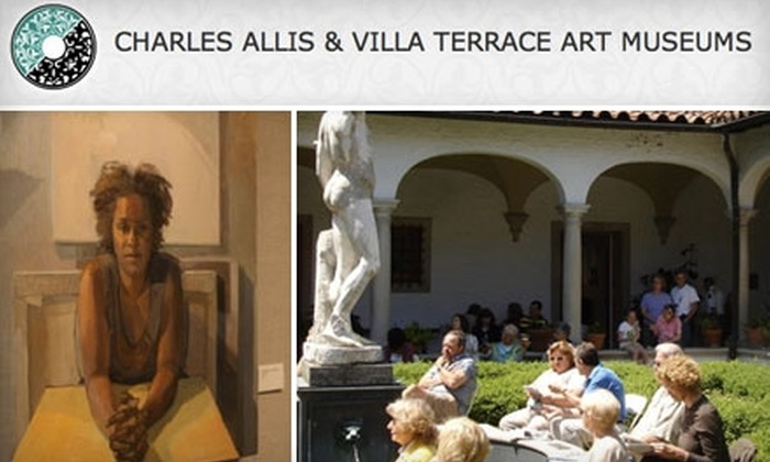Charles Allis Art Museum & Villa Terrace Decorative Arts Museum - Multiple Locations: $25 for a One-Year Family Membership to the Charles Allis Art Museum and Villa Terrace Decorative Arts Museum ($60 value)