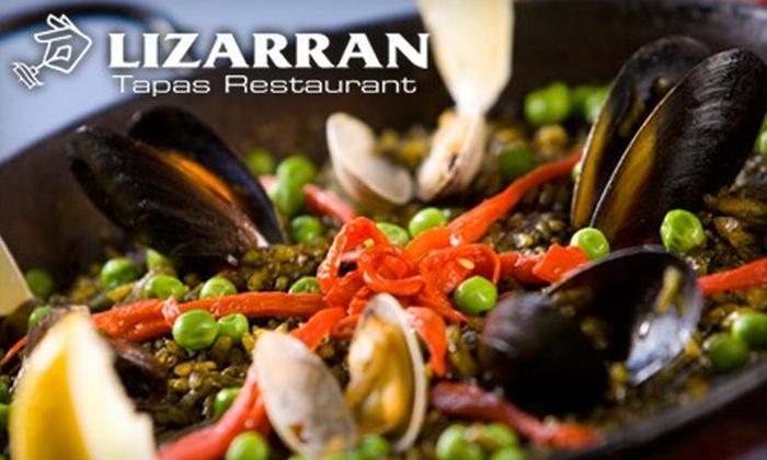 Lizarran Tapas Restaurant - Gilroy: $20 for $40 Worth of Tasty Tapas and More at Lizarran Tapas Restaurant