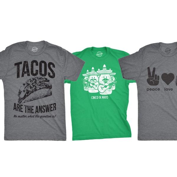 ae4bc2f0 Up To 21% Off on Men's Taco Tuesday Tees (S–2XL) | Groupon Goods