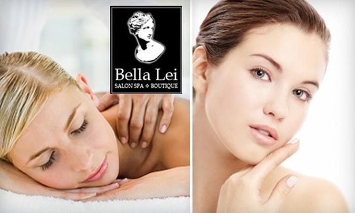 Bella Lei Salon Spa & Boutique - Multiple Locations: $35 for Swedish Massage or Vivo Facial at Bella Lei Salon Spa & Boutique Plus 15% Off Microdermabrasion ($84.25 Value)