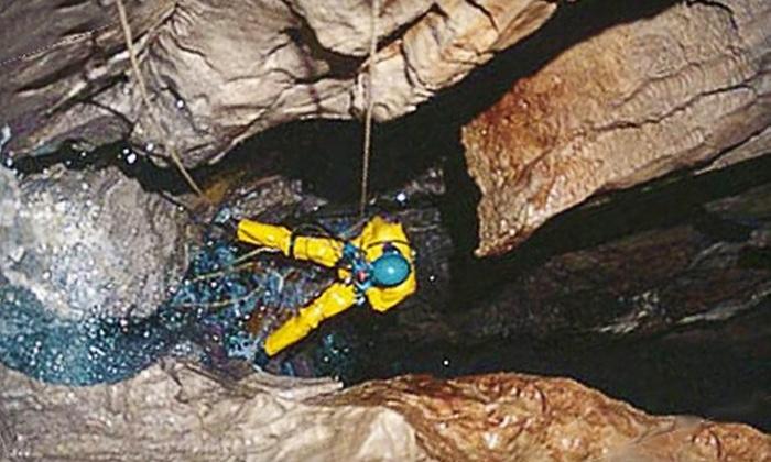 Horne Lake Caverns - Qualicum Beach: $83 for an Extreme Rappel Cave Tour at Horne Lake Caverns in Qualicum Beach