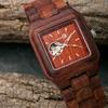 Earth Wood Black Rock Automatic Men's Watch