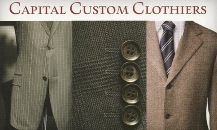 Capital Custom Tailors - Annapolis: $95 for $205 Worth of Custom-Made Clothing or $50 for a Custom-Made Shirt ($109 Value) at Capital Custom Tailors in Annapolis