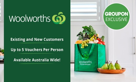 Woolworths Online: $5 or $20 to Spend on Groceries Min. Spend $140 or $200 Existing & New Customers