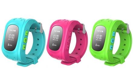 Smartwatch infantil con localizador GPS, tarjeta SIM y pantalla LED