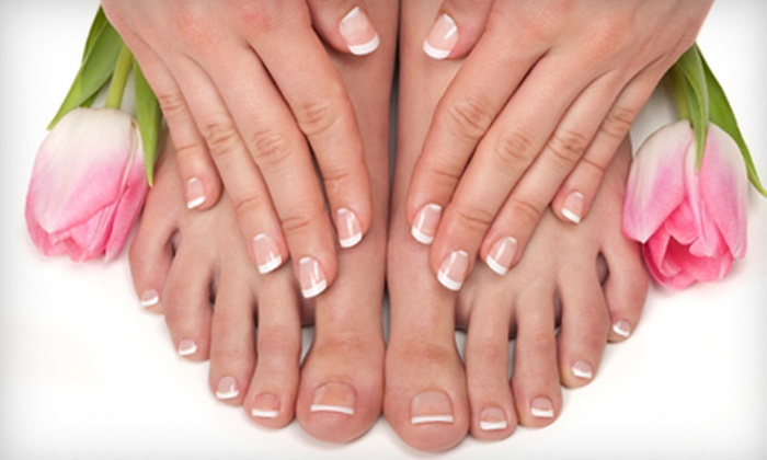 Bloomingnails Hair and Nail Salon - Woodside Lake Country: $30 for a Manicure and Spa Pedicure from Jennifer Barger at Bloomingnails Hair and Nail Salon in Old Hickory ($65 Value)