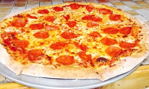 Chicho's Pizza: Pizza, Wings, and Casual Cuisine at Chicho's Pizza (50% Off). Two Options Available.