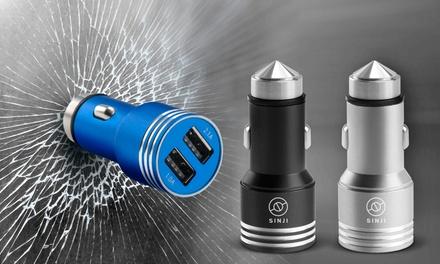 Cargador USB 2 en 1 y rompe cristales para coches desde 4,99 €