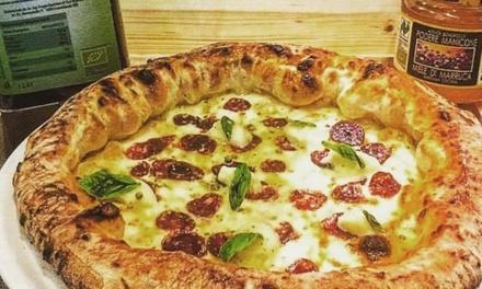 Menu con pizza Gourmet e birra