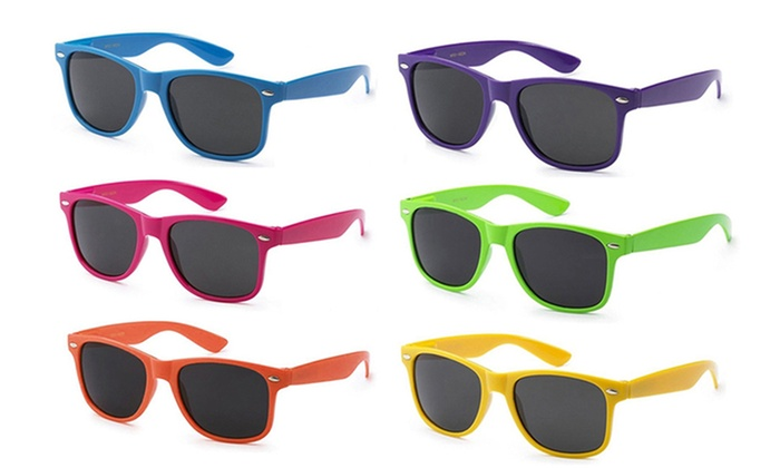 Candy-Colored Classic Sunglasses (6-Pack)