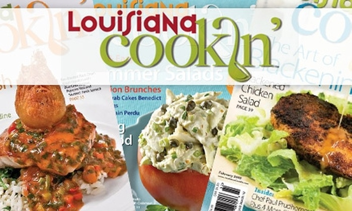 """Louisiana Cookin': $20 for a One-Year Subscription to """"Louisiana Cookin'"""" and Recipe CD"""