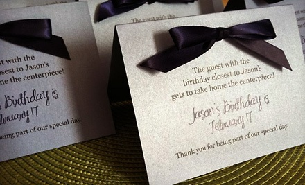 $35 Groupon for Custom Stationery or Favor Tags - Jessica Leigh Paperie in West Babylon