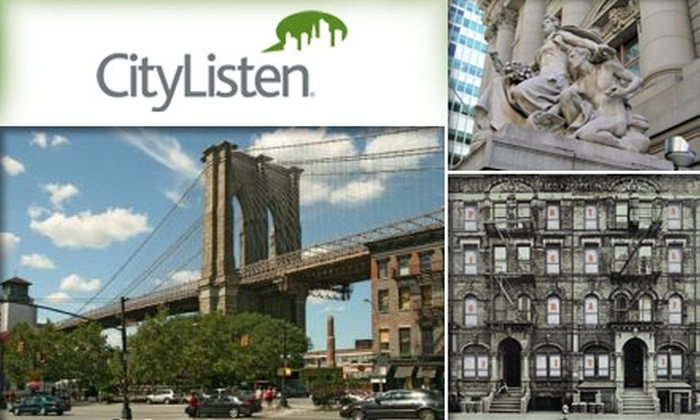 CityListen Audio Tours - New York City: $18 for Three Downloadable Audio Tours from CityListen Audio Tours ($38 Value)