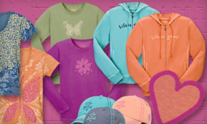 Life is Good Newport - Newport: $15 for $30 Worth of Brand Apparel at Life is Good Newport
